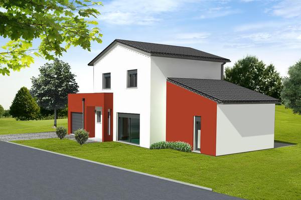 Projet de construction RT2012 - façade avant Mètre Carré