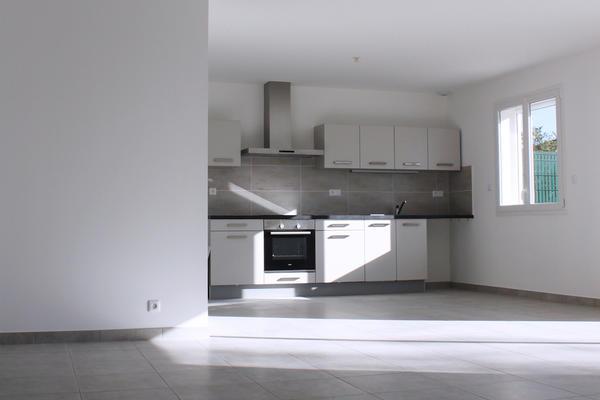 Pièce de vie ouverte - Maison locative neuve Mètre Carré - Constructeur Agen Bordeaux et Toulouse
