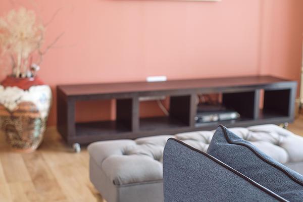 Salon terracotta et parquet bois Maison neuve Constructeur Mètre Carré