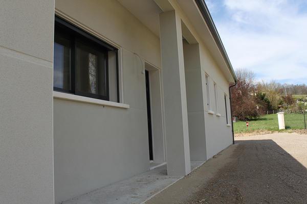 Maison neuve et porche rentrant à Saint Caprais de Lerm - Constructeur Agen Bordeaux Toulouse