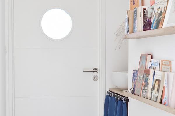 Porte intérieure vitrée avec oculus - Maison neuve Constructeur Mètre Carré