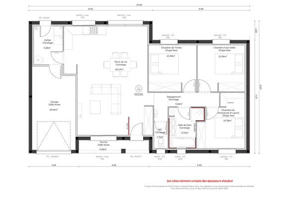 Plan de maison contemporaine  - Constructeur Agen Bordeaux Toulouse