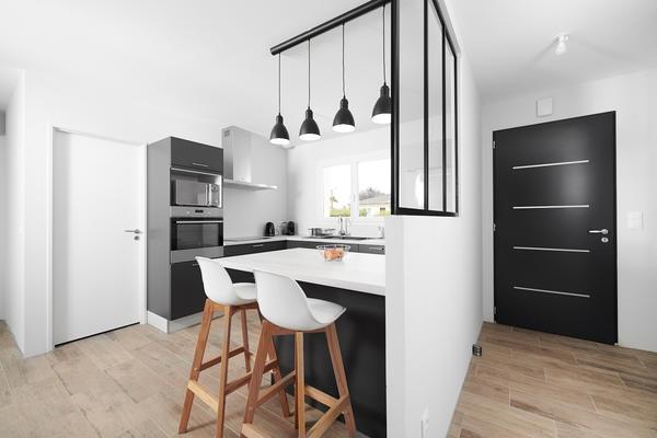Cuisine et verrière - Projet de construction Bordeaux Constructeur Mètre Carré