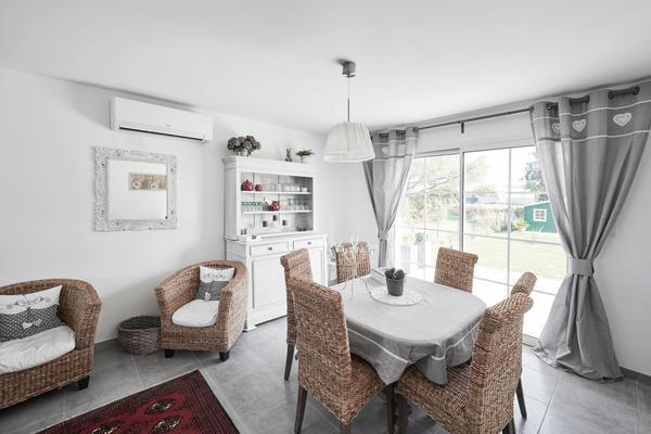 Pièce de vie - esprit maison de campagne - Constructeur Mètre Carré Agen Bordeaux et Toulouse