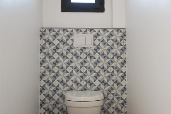 Maison neuve constructeur Agen Bordeaux Toulouse - WC suspendu faïence carreaux de ciment