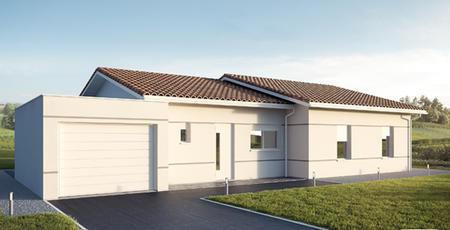 TERRAIN 515M2 + MAISON 90M2 GARAGE - constructeur de maisons Parentis