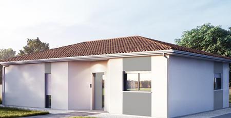 maison plain pied 3 chambres + garage - constructeur de maisons Bordeaux