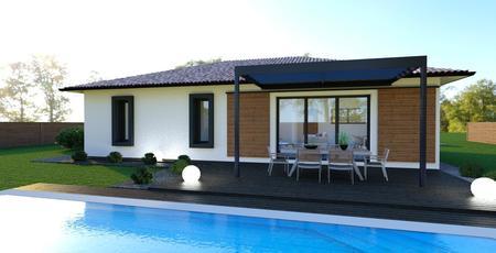 Un projet de maison simple et original aux portes de Bordeaux. - constructeur de maisons Bordeaux