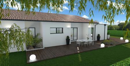 Maison 3 chambres et un garage - constructeur de maisons Bordeaux