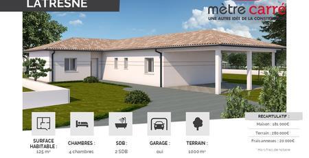Exclusivité - Nouveau projet Mètre Carré - BELIN-BELIET - constructeur de maisons Bordeaux
