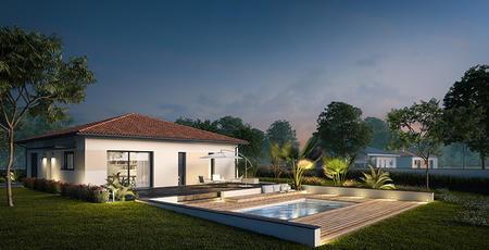 Terrain 861m2 + Maison 90m2 - constructeur de maisons Bordeaux