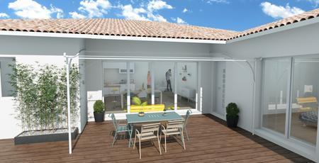 Maison 4 chambres et garage au centre bourg Salles - constructeur de maisons Bordeaux