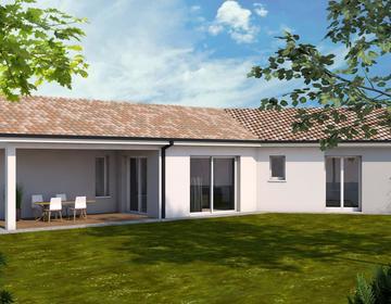 Maison neuve avec grand jardin proche centre ville - constructeur de maisons Agen