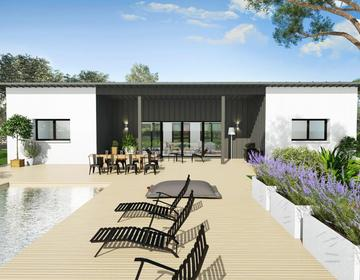 Maison contemporaine basse consommation de 110m2 habitables - constructeur de maisons Agen