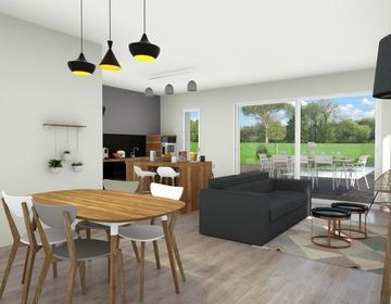 Maison Plain pied sur mesure BELIN-BELIET - constructeur de maisons Bordeaux