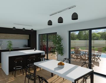 Maison 100m² - Terrain 539m² - constructeur de maisons Bordeaux