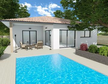 Maison 90m² + terrasse couverte - Terrain 453m² - constructeur de maisons Bordeaux
