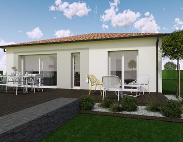 Maison de plain pied sur mesure - constructeur de maisons Bordeaux