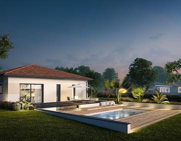 Maison 90m² + terrain 540m² - constructeur de maisons Bordeaux