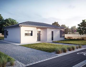 TERRAIN  lotissement + MAISON 80 M2 - constructeur de maisons Parentis