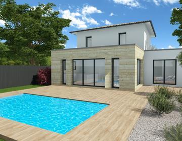 Une maison M² en centre ville - constructeur de maisons Bordeaux