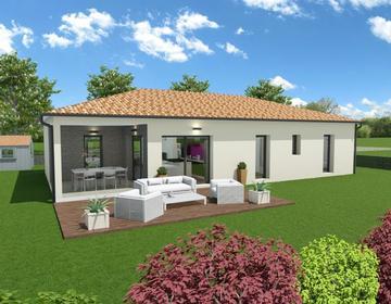 Une maison M² dans un quartier calme - constructeur de maisons Bordeaux