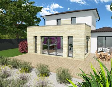 Jolie contemporaine - constructeur de maisons Bordeaux