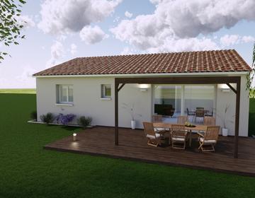 TERRAIN DE 532M2 + MAISON 70M2 - constructeur de maisons Parentis
