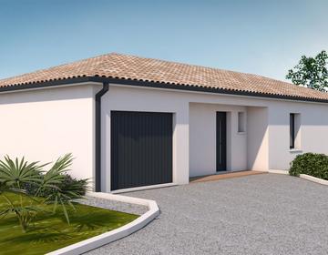 MAISON 85M2 + GARAGE SUR TERRAIN DE 910M2 - constructeur de maisons Parentis