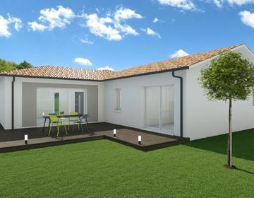 Terrain viabilisé proche centre avec Maison plain pied Sur Mesure - constructeur de maisons Bordeaux