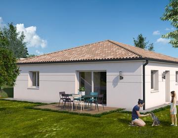 Maison neuve T5 sur terrain arboré - constructeur de maisons Agen