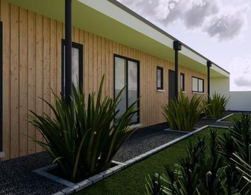 Maison neuve 80m² - Terrain 1038m² boisé - constructeur de maisons Bordeaux