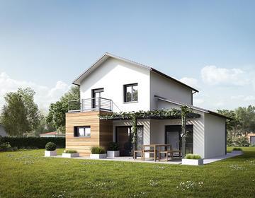 Au cœur des vignes - Maison neuve 110m² + garage - Terrain 1444m² - constructeur de maisons Bordeaux