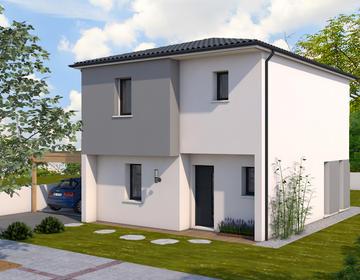 Maison neuve 110m² - Terrain 322m² - constructeur de maisons Bordeaux