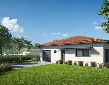 Maison neuve 110m² - Terrain 622m² - constructeur de maisons Bordeaux