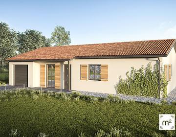 Maison neuve 80m² - Terrain 400m² - constructeur de maisons Bordeaux