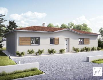 Maison neuve 90m² - Terrain 539m² - constructeur de maisons Bordeaux