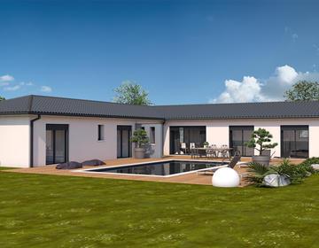 Maison 4 pièces implanté sur 2000 m² - constructeur de maisons Toulouse