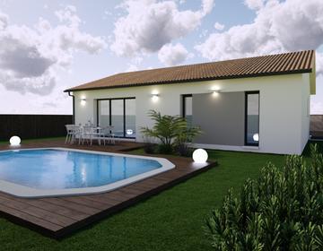 Maison neuve 80m² - Terrain 1026m² - constructeur de maisons Bordeaux