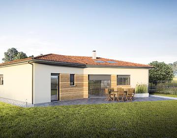 Maison neuve 90m2 - Terrain 860m2 - constructeur de maisons Bordeaux