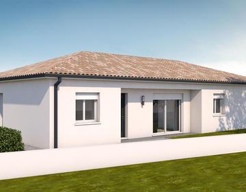 Maison neuve 110m² - Terrain 457m² - constructeur de maisons Bordeaux