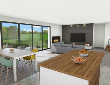 Maison neuve 114m² - terrain 1317m² - constructeur de maisons Parentis