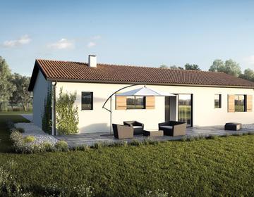 Maison 90m²+ garage - constructeur de maisons Parentis