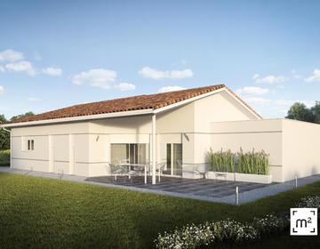 Maison neuve 110m² + Garage et Terrasse couverte - constructeur de maisons Parentis