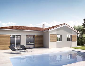 Maison neuve 100m² - Parents-En-Born - constructeur de maisons Parentis