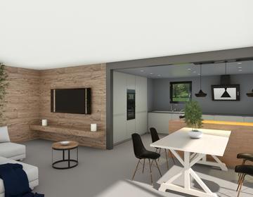 Maison 120m² 4 chambres dont une suite + garage + terrasse couverte - constructeur de maisons Parentis
