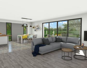 Maison plain pied 90m²- - constructeur de maisons Bordeaux