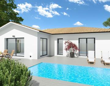 Maison 110m² - Terrain 600m² - constructeur de maisons Bordeaux