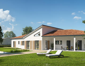 126m² - garage - constructeur de maisons Parentis