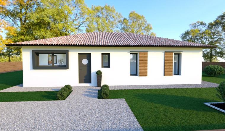 maison contemporaine plain pied - constructeur de maisons Bordeaux